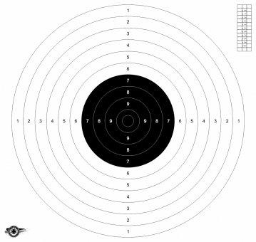 BDMP Scheibe ISSF 25m/50m Pistole