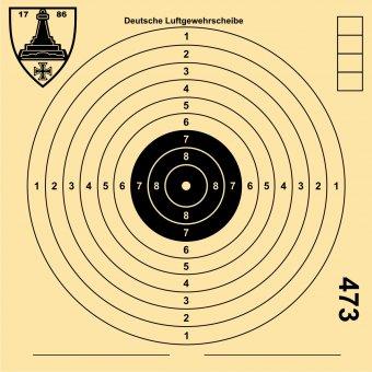 Deutsche Luftgewehr-Schießscheibe
