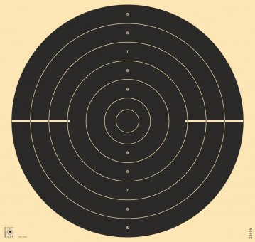 Rapid fire pistol target, without number