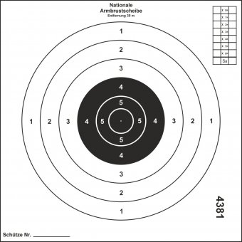 Crossbow target
