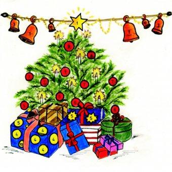 Weihnachtsbaum-Scheibe