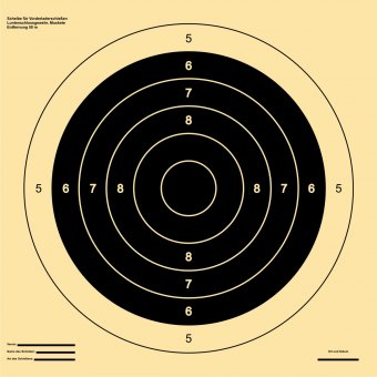 Target for musket …